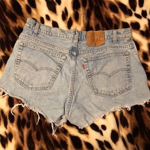 Women's Levi's high waisted cut off shorts size 38